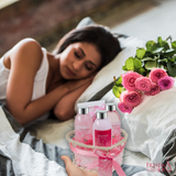 The perfect gift for women this Valentine's Day, create a spa experience in your bathroom, and pamper your body with this exquisite heart love caddy rose spa bath body set