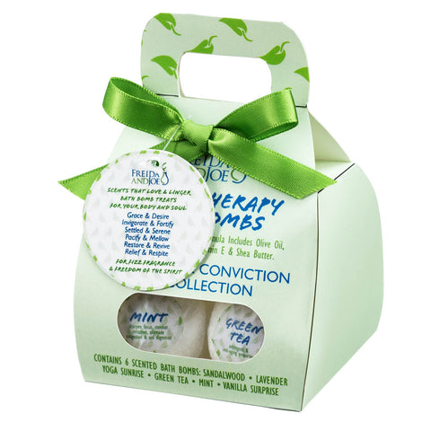 6pcs Bath Bombs Pocketbook - Inner Calm & Conviction