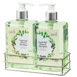 36 oz. Purple Basil Flower & Kale Splash Cleansing and Refreshing Hand Wash Set - Freida & Joe