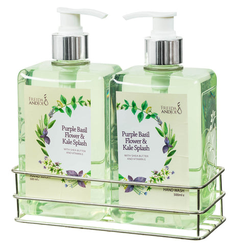 36 oz. Purple Basil Flower & Kale Splash Hand Wash Set - Freida & Joe