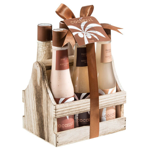 Tropical Milky Coconut Bath & Body Spa Gift Set - Freida & Joe