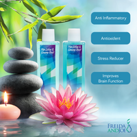 Lotus and Ginseng Root Spa Shower Kit: Shower Gel, Bubble Bath, Body Lotion, and Bath Puff - Freida & Joe