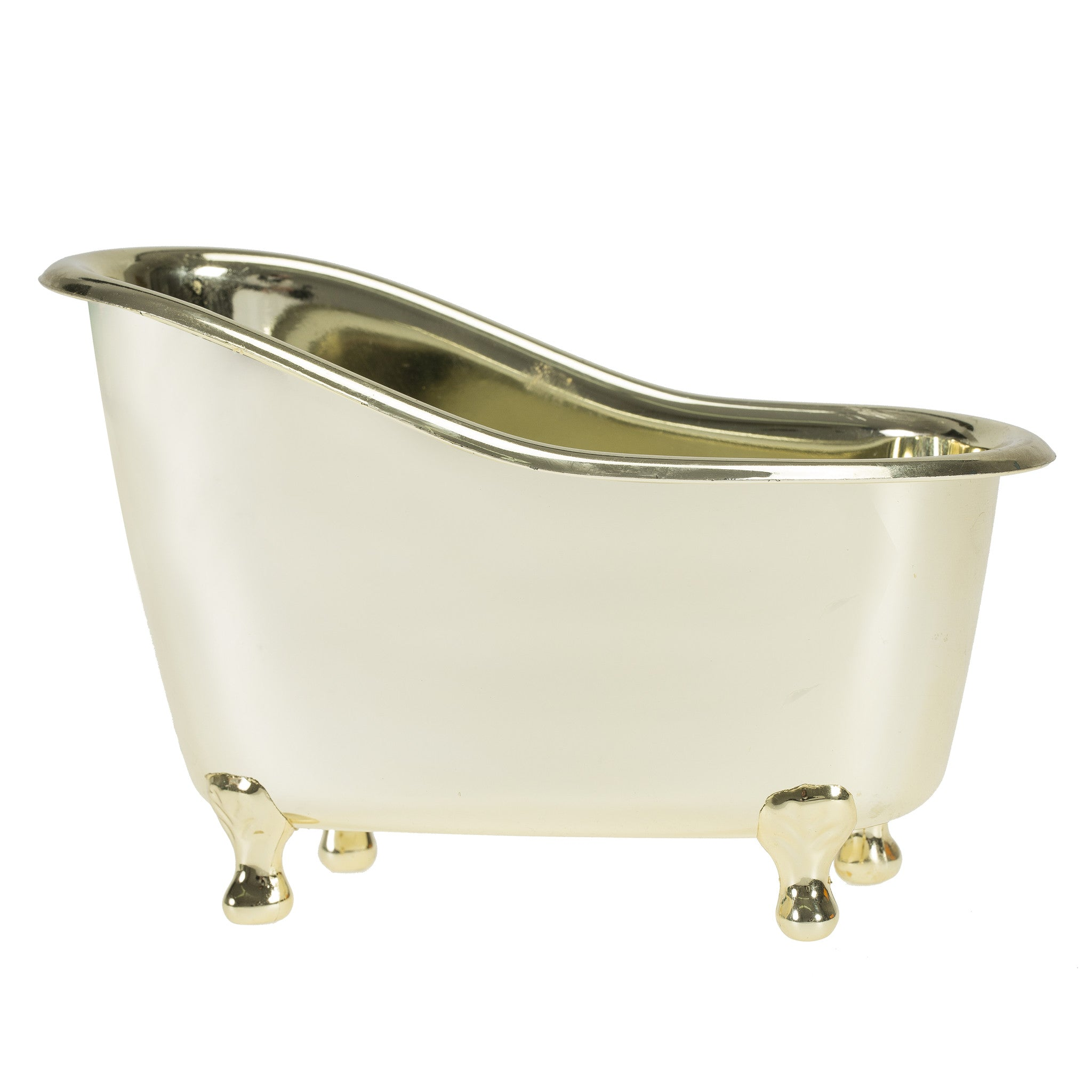 White Rose Jasmine Gold Tub Spa Basket: Shower Gel, Bubble Bath, Body Lotion, Bath Salts - Freida & Joe