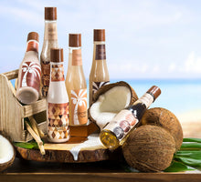 Tropical Milky Coconut Spa: Shower Gel, Bubble Bath, Bath Salt, Body Butter, Body Scrub, Lotion - Freida & Joe