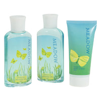 Refreshing Meadow Fragrance Bath Spa Gift Box: Shower Gel, Bubble Bath, Body Lotion. - Freida & Joe