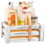 Sweet Garden Fragrance Complete Spa Basket: Body Spray, Body Lotion, Bath Salt & More - Freida & Joe