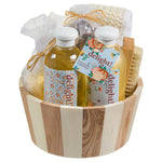 Delight, Spa Basket With Many Skin Care Products: Shower Gel, Bubble Bath & More. - Freida & Joe