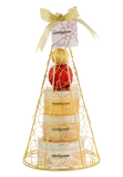 Candy Cane! Gold iron plated Christmas tree bath and body perfumed gift set. - Freida & Joe