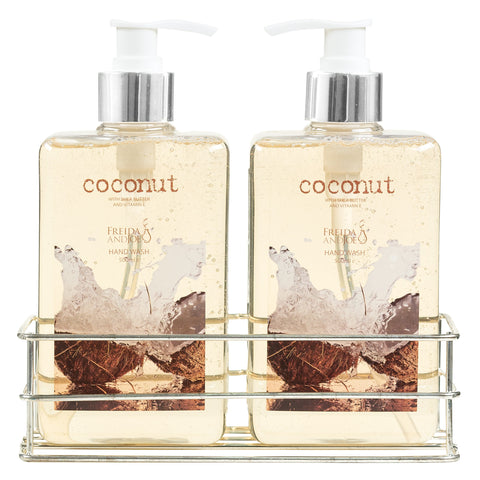 36 oz. Tropical Coconut Shea Butter and Vitamin E Enriched Hand Wash Set - Freida & Joe
