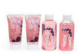 Rose Champagne Blackberry Spa Set: Hand Cream, Shower Gel, Bubble Bath, & Body Lotion - Freida & Joe