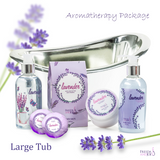 Lavender Bath Spa Set: Shower Gel, Bubble Bath, Body Lotion, Bath Bomb, Bath Salts - Freida & Joe