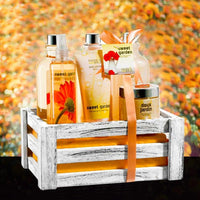 Sweet Garden Fragrance Complete Spa Basket: Body Spray, Body Lotion, Bath Salt & More