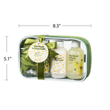 Luxury Wild Flower and Honey Comb Spa Gift Set: Aromatic Bathroom Spa Features Shower Gel, Bubble Bath, Body Lotion, and a Bath Puff
