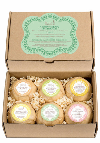 Mind, Body, and Balance Bath Bomb Gift Set for Women: 6 Exquisite Scents for Bath and Body