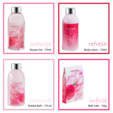 Pamper your body with exquisite heart love basket, Rose Fragrance Spa Bath & Body Set. - Freida & Joe