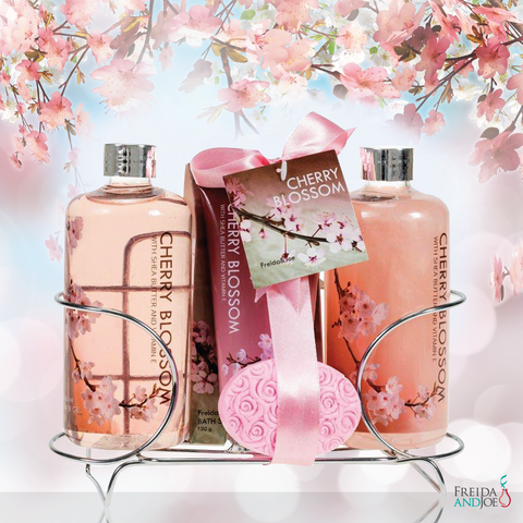Fragrant Cherry Blossom Spa Gift Set for Women: Luscious Bathroom ...