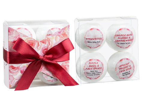 4pcs Bath Bombs - Romantic Sensuous Gift Set - Freida & Joe