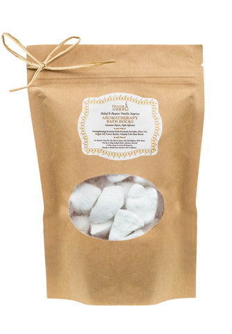Decadent Vanilla Aromatherapy Bath Rocks for Women: Enriched with Argan Oil, Olive Oil, Coca Butter, Shea Butter, and Vitamin E - Freida & Joe