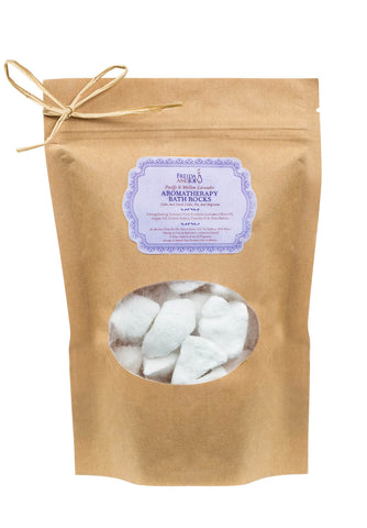 Aromatherapy Lavender Bath Rocks 250g-  Enriched with  Olive Oil, Argan Oil, Cocoa Butter, Vitamin E & Shea Butter - Freida & Joe