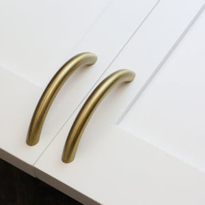 "Bow Pull - 3"" - Satin Brass"