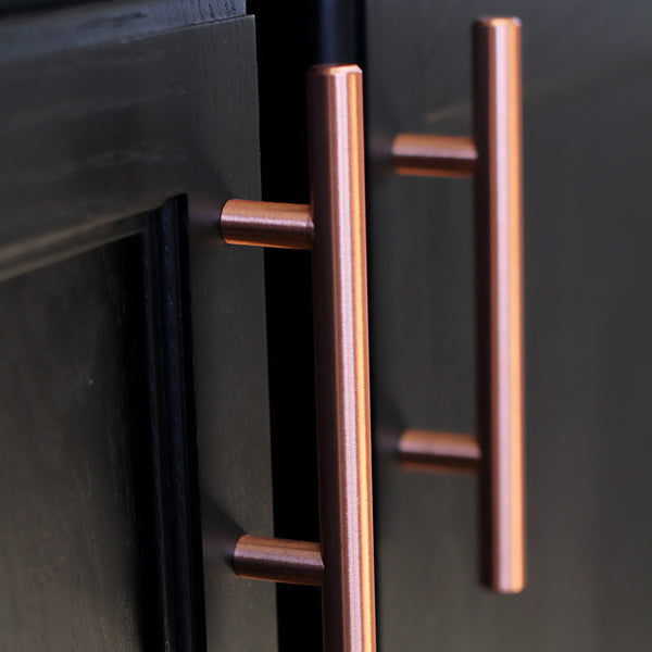 Satin Copper Cabinet Hardware Euro Style Bar Handle Pull