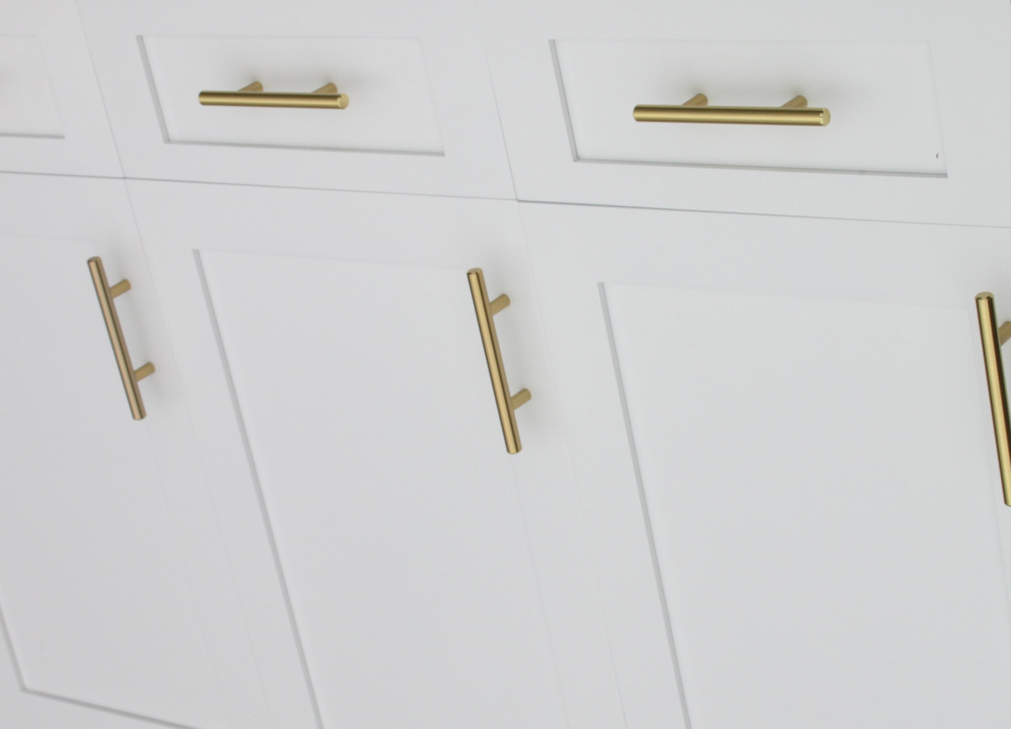 Satin brass cabinet hardware euro style bar handle pull 128mm hole centers 7 3 4 overall length