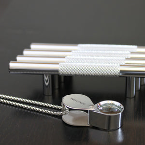 "Polished Chrome Diamond Cut Knurled Euro Style Bar Handle Pull - 96mm Hole Centers, 6-3/4"""" Overall Length"