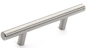 "Euro Style Bar Handle Pull - 96mm Hole Centers, 6-3/4"" Inch Overall Length"