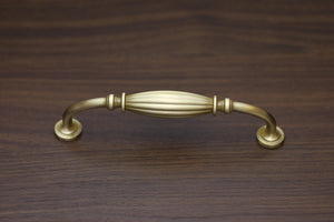 "Satin Brass 128mm 5"" Pull Traditional"