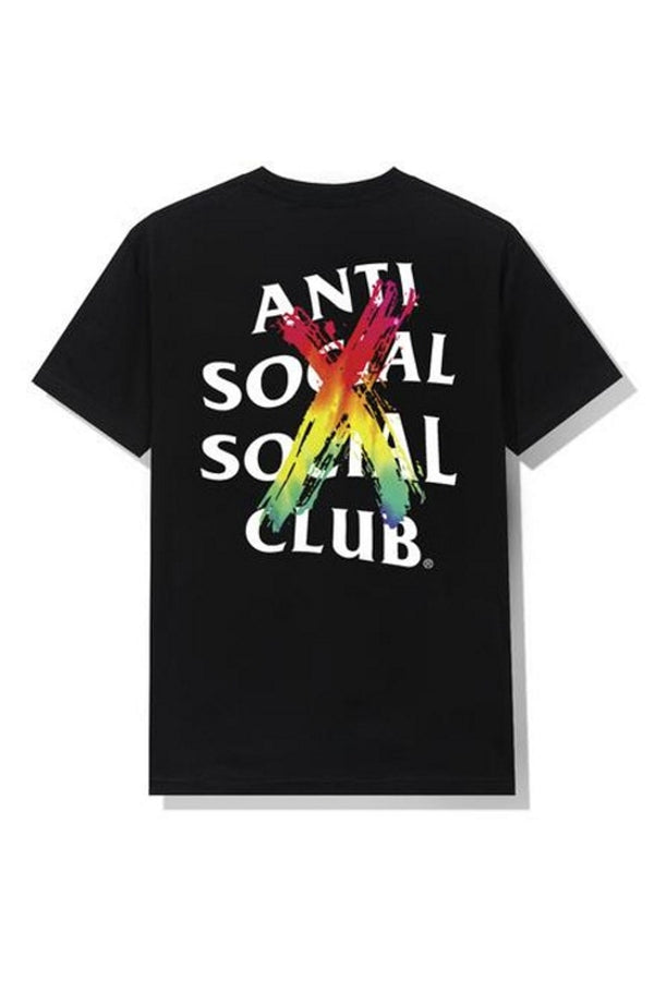 Anti Social Social Club Cancelled Rainbow Tee Black