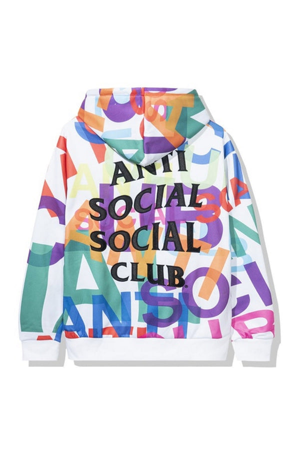 Anti Social Social Club Headrush All Over Hoodie White