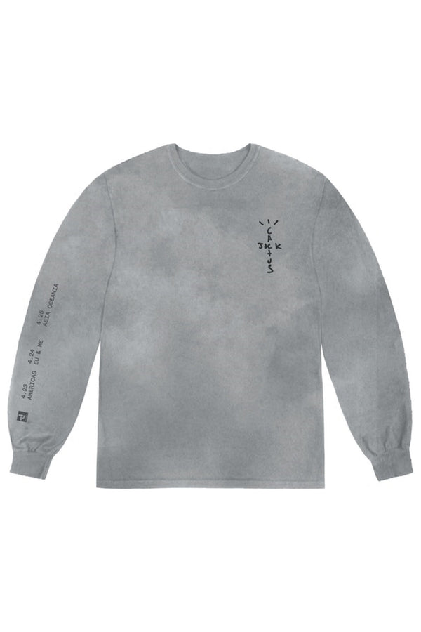 Travis Scott Back Bling L/S Tee Washed Grey