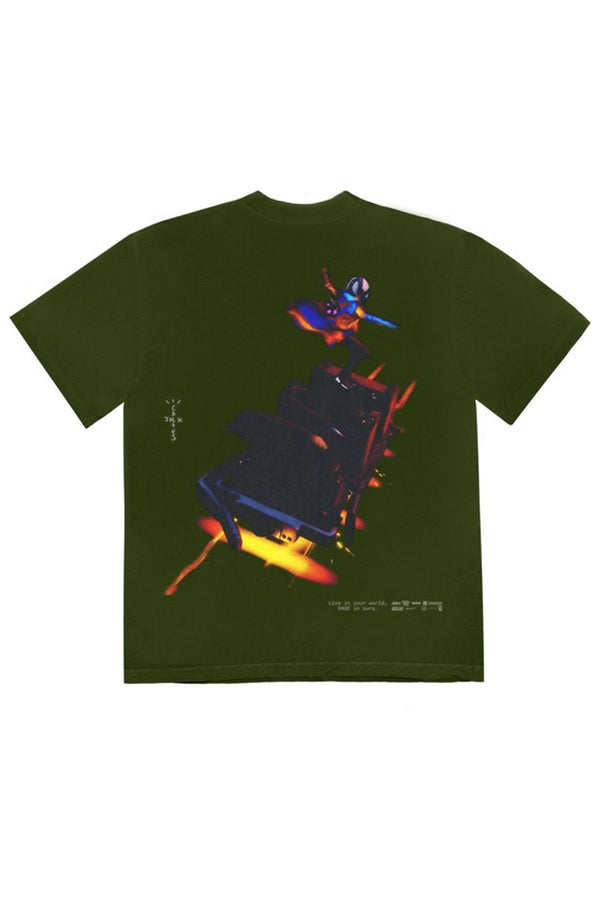 Travis Scott Astro Cyclone T-Shirt Washed Olive