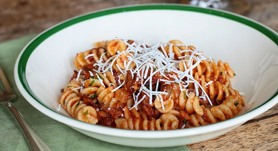 Terlato Kitchen Fusilli With Tomato And Smoky Bacon