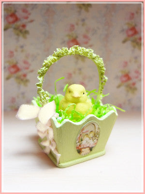 "1"" Vintage Chick Basket"
