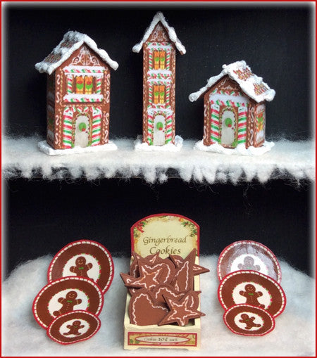 "1"" Gingerbread Houses & Ornies"