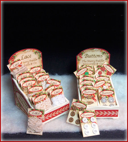 "1"" Merry Lace & Button Boxes"