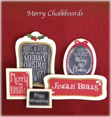"1"" Merry Chalkboards Kit"