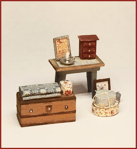 CRANBERRY COTTAGE - CANDLE TABLE, TRUNK & ACCESSORIES