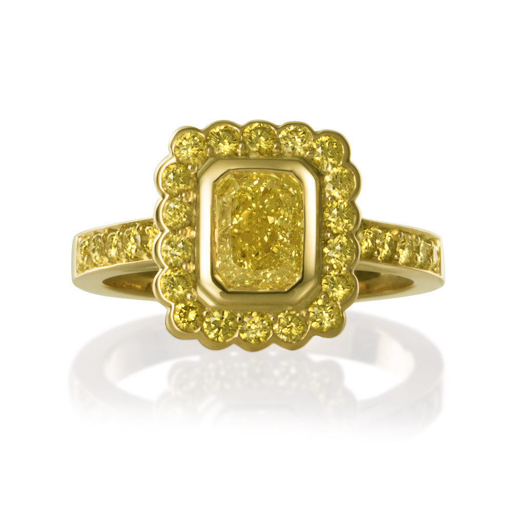 BESPOKE YELLOW DIAMOND RING