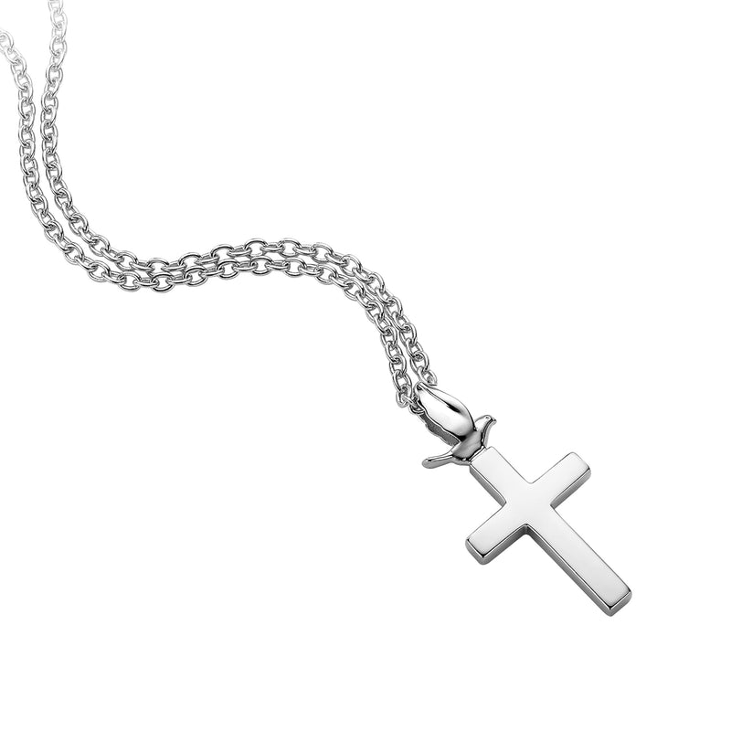 DOVE & CROSS NECKLACE