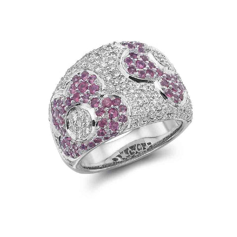 COCKTAIL 'WINDFLOWER' RING PINK