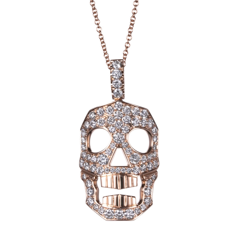 DIAMOND SKULL NECKLACE - LARGE