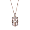 DIAMOND SKULL NECKLACE - MED