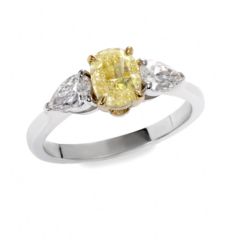 THREE STONE YELLOW RING