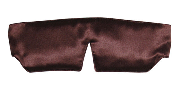 Sleep Mask - Silk Charmeuse Brown