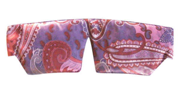 Silk Sleep Mask - Paisley Purple