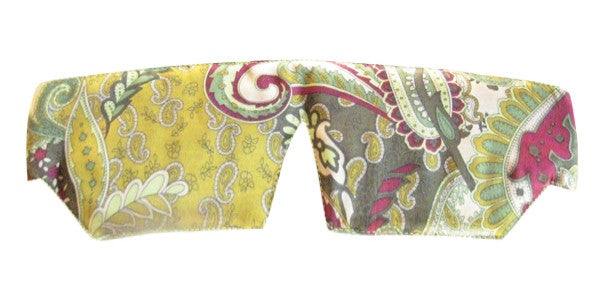 Silk Sleep Mask - Paisley Golden