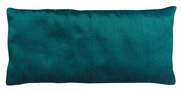 Eye Pillow - Silk Dupioni Peacock