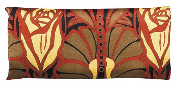 Silk Eye Pillow - Art Nouveau Red & Black
